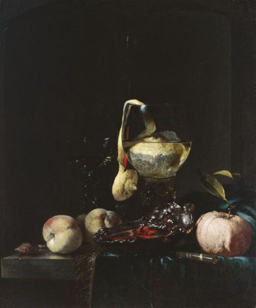 Still Life with Glasses and a Silver Bowl | Willem Kalf | Oil Painting
