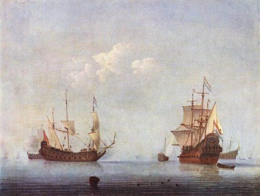 A Marine Landscape | Willem van de Velde the Younger | Oil Painting