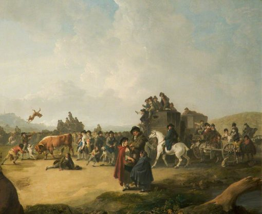 Bull Baiting | Julius Caesar Ibbetson | Oil Painting