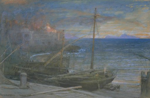 Torre del Greco and Capri | Albert Goodwin | Oil Painting