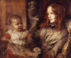 Mrs Elizabeth Young Mitchell and Her Baby | Alfred George Stevens | Oil Painting