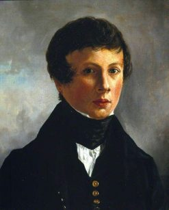 Self-Portrait at Age 14 | Alfred George Stevens | Oil Painting