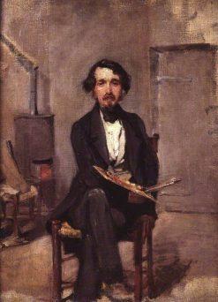 An Artist in His Studio | Alfred George Stevens | Oil Painting