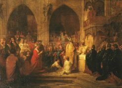 Sketch for 'The Installation of the Order of the Garter' | Benjamin West | Oil Painting