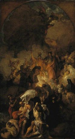 Sketch for 'St Paul Shaking off the Viper' | Benjamin West | Oil Painting