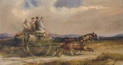 Sportsmen in Scottish Dress Driving to the Moors   Charles Cooper Henderson   Oil Painting