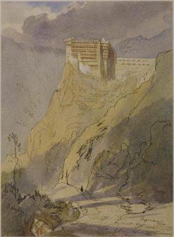 The Monastery of Simopetra on Mount Athos | Edward Lear | Oil Painting