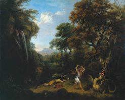 Landscape with Cadmus Killing the Dragon   Francesco Zuccarelli   Oil Painting