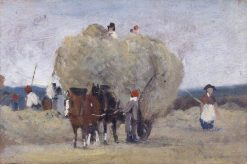 Harvest Wagon (sketch) | Frederick Waters Watts | Oil Painting