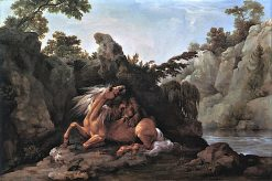 Horse Devoured by a Lion | George Stubbs | Oil Painting
