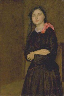 Dorelia in a Black Dress | Gwen John | Oil Painting