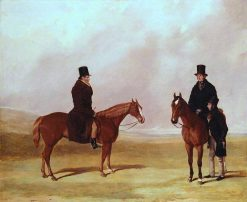 John Barham Day with his Sons John and William on Newmarket Heath | Harry Hall | Oil Painting
