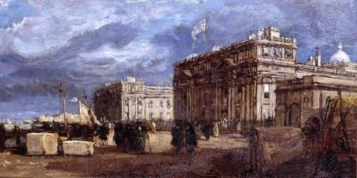 Greenwich Hospital as it was in 1837   James Holland   Oil Painting