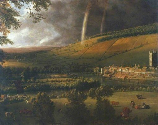 Landscape with Rainbow: Henley-on-Thames   Jan Siberechts   Oil Painting