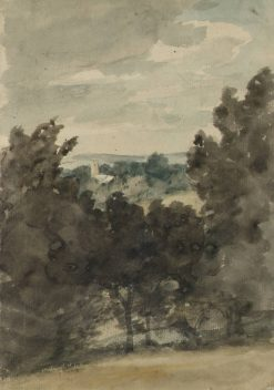 View Towards Stratford St Mary Church | John Constable | Oil Painting