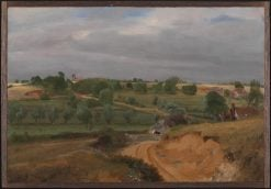 Brightwell Church and Village   John Constable   Oil Painting