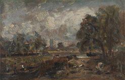 Dedham Lock   John Constable   Oil Painting