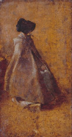 Study of a Girl in a Cloak and Bonnet | John Constable | Oil Painting