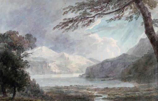 Fluelen on the Lake of Lucerne | John Robert Cozens | Oil Painting