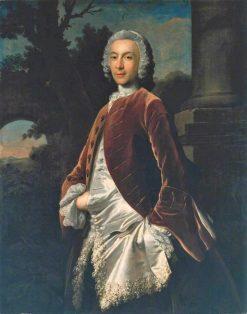 A Gentleman in a Brown Velvet Coat   Joseph Highmore   Oil Painting