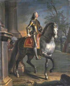 Equestrian Portrait of King George II   Joseph Highmore   Oil Painting