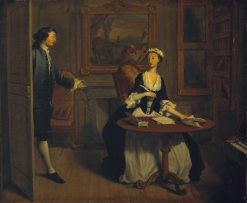 I. Mr B. Finds Pamela Writing | Joseph Highmore | Oil Painting
