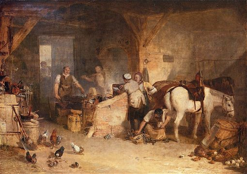 A Country Blacksmith Disputing upon the Price of Iron
