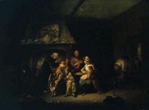 A Married Sailor's Return   Julius Caesar Ibbetson   Oil Painting