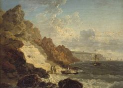 Sand Quarry at Alum Bay | Julius Caesar Ibbetson | Oil Painting
