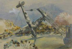 The Messerschmidt in Windsor Great Park | Paul Nash | Oil Painting