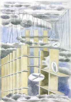 Mansions of the Dead   Paul Nash   Oil Painting