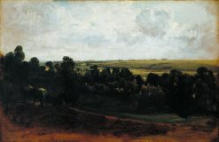 Landscape with Horses Grazing   Peter de Wint   Oil Painting