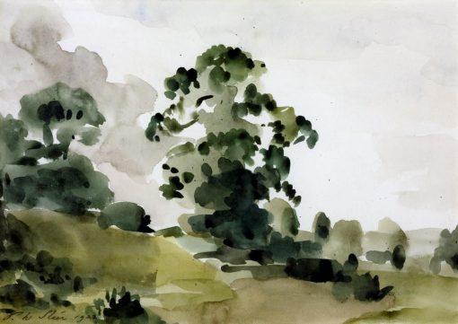 Elm Trees | Philip Wilson Steer | Oil Painting