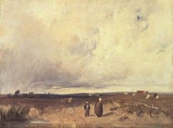 A Distant View of St-Omer | Richard Parkes Bonington | Oil Painting