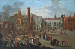 The Inner Temple after the Fire of 4 January 1737 | Richard Wilson
