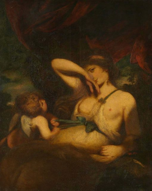 A Nymph and Cupid
