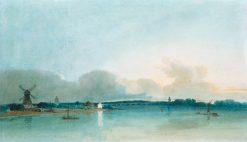 The White House at Chelsea   Thomas Girtin   Oil Painting