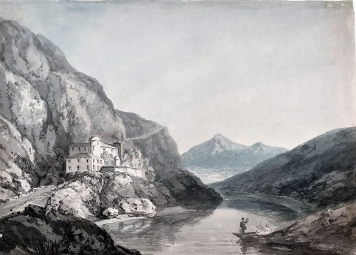At Fort de l'Ecluse in Savoy | Thomas Girtin | Oil Painting