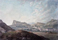 Edinburgh Castle from Arthur's Seat   Thomas Hearne   Oil Painting