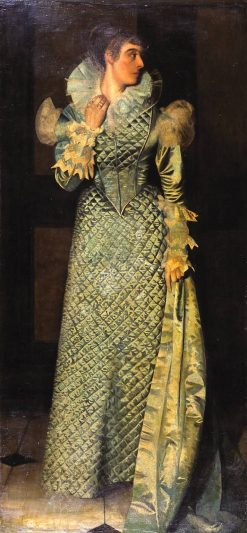 The Green Dress   Walter Greaves   Oil Painting