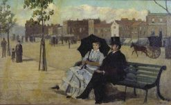 Walter Greaves and Alice Greaves on the Embankment   Walter Greaves   Oil Painting