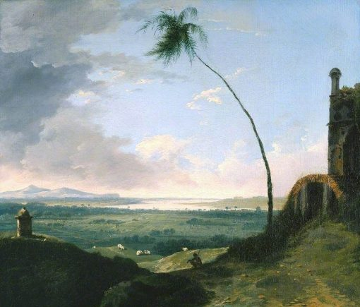 Tomb and Distant View of Rajmahal Hills | William Hodges | Oil Painting