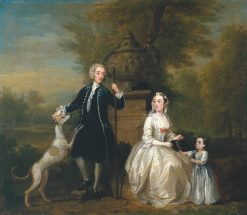 Ashley Cowper with His Wife and Daughter | William Hogarth | Oil Painting