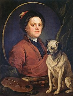 Self-Portrait with Pug | William Hogarth | Oil Painting