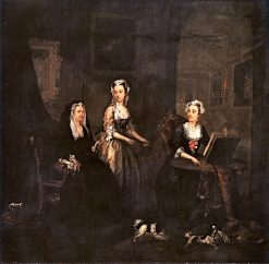 Three Ladies in a Grand Interior(also known as The Broken Fan) | William Hogarth | Oil Painting
