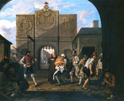 O the Roast Beef of Old England(also known as The Gate of Calais) | William Hogarth | Oil Painting