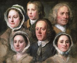 Heads of Six Servants of the Hogarth Household | William Hogarth | Oil Painting
