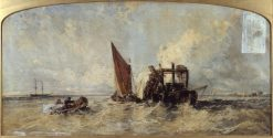 Dredging on the Medway | William James Muller | Oil Painting