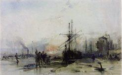 Bristol Harbour in Ice | William James Muller | Oil Painting