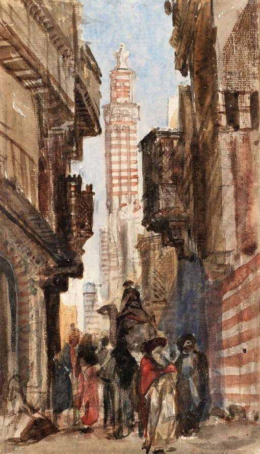 Street in a Near Eastern Town | William James Muller | Oil Painting